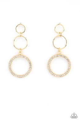 Rule-Breaking Radiance - Gold - Paparazzi Earring Image