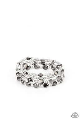 Fashionably Faceted - Multi - Paparazzi Bracelet Image