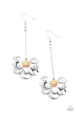 Oh SNAPDRAGONS! - Silver - Paparazzi Earring Image