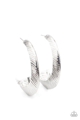 I Double FLARE You - Silver - Paparazzi Earring Image