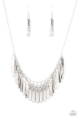 Metallic Muse - Silver - Paparazzi Necklace Image