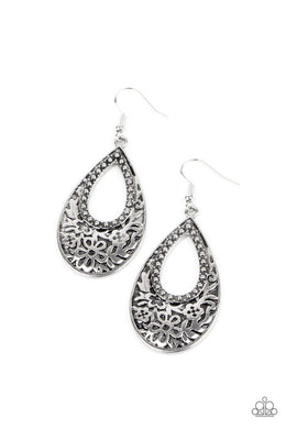 Organically Opulent - Silver - Paparazzi Earring Image