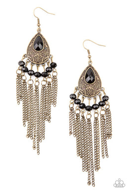 Floating on HEIR - Brass - Paparazzi Earring Image