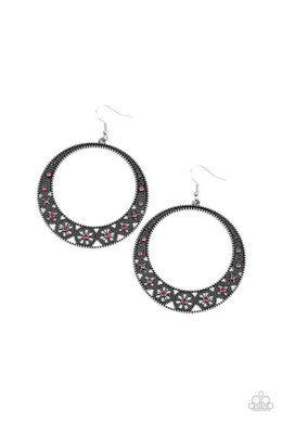 ​Bodaciously Blooming - Pink - Paparazzi Earring Image