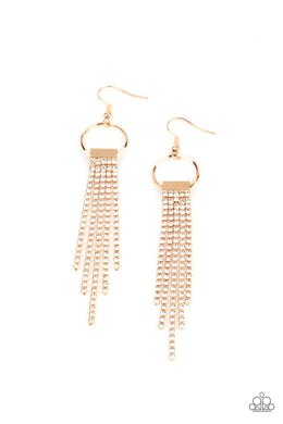 Tapered Twinkle - Gold - Paparazzi Earring Image
