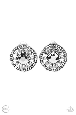 Dazzling Definition - Silver - Paparazzi Earring Image