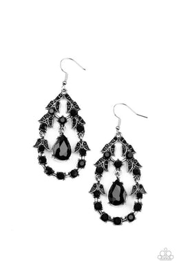 Garden Decorum - Black - Paparazzi Earring Image