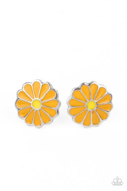​Budding Out - Orange - Paparazzi Earring Image
