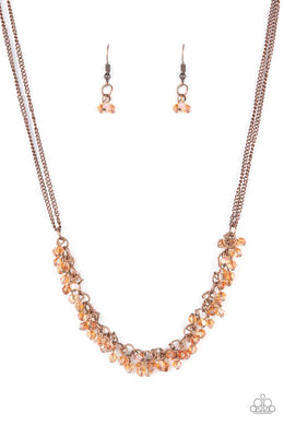 ​Let There Be TWILIGHT - Copper - Paparazzi Necklace Image