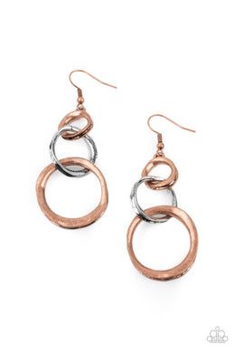 ​Harmoniously Handcrafted - Copper - Paparazzi Earring Image
