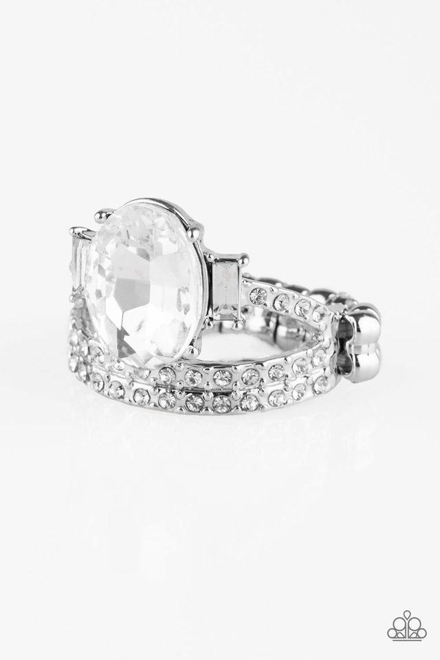 Paparazzi Ring ~ Bling Queen - White