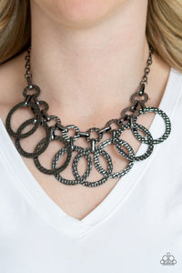 Paparazzi Necklace ~ Jammin Jungle - Black