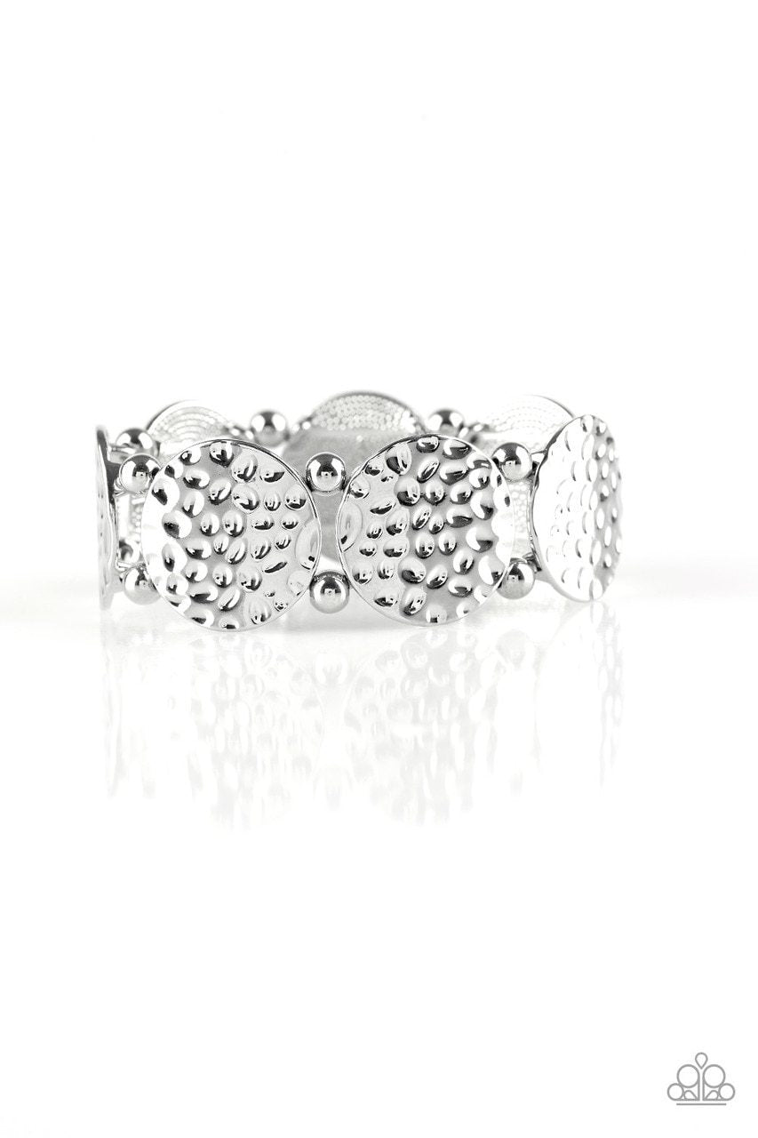 Paparazzi Bracelet ~ GLISTEN and Learn - Silver