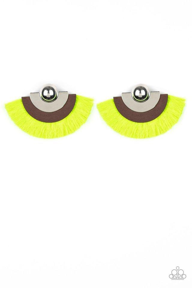 Paparazzi Earring ~ Fan The FLAMBOYANCE - Yellow