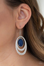Load image into Gallery viewer, Paparazzi Earring ~ Seaside Spinster - Blue