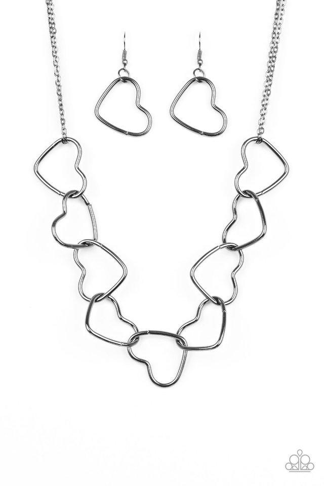 Paparazzi Necklace ~ Unbreak My Heart - Black