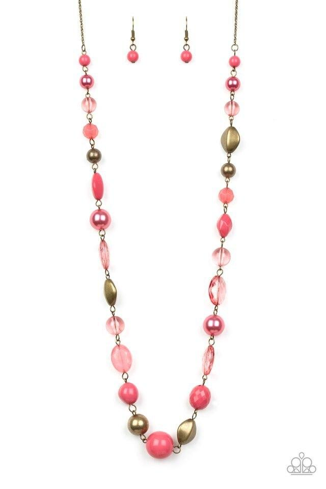 Paparazzi Necklace ~ Secret Treasure - Pink