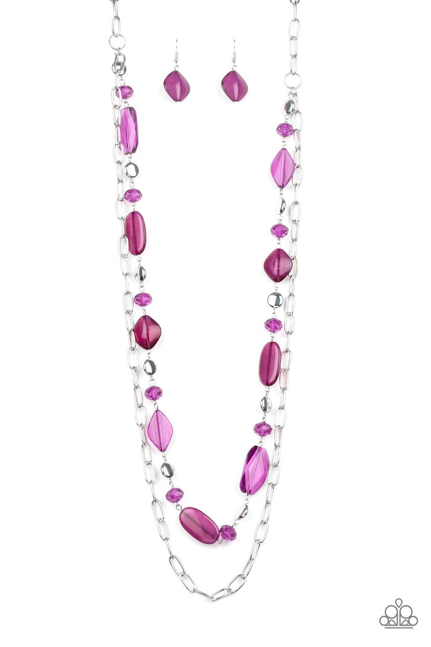 Paparazzi Necklace ~ Colorful Couture - Purple