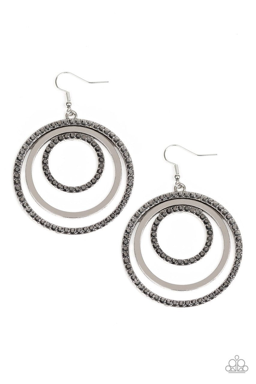 Paparazzi Earring ~ Rippling Refinement - Silver