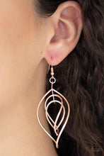 Load image into Gallery viewer, Paparazzi Earring ~ Asymmetrical Allure - Rose Gold