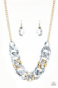 Paparazzi Necklace ~ I Have A HAUTE Date - White