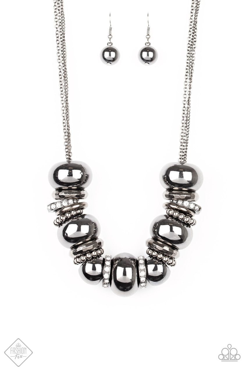 Paparazzi Necklace ~ Only the Brave - Black
