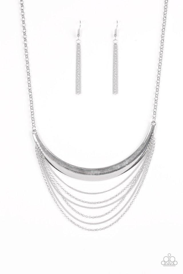 Paparazzi Necklace - Way Wayfarer - Silver
