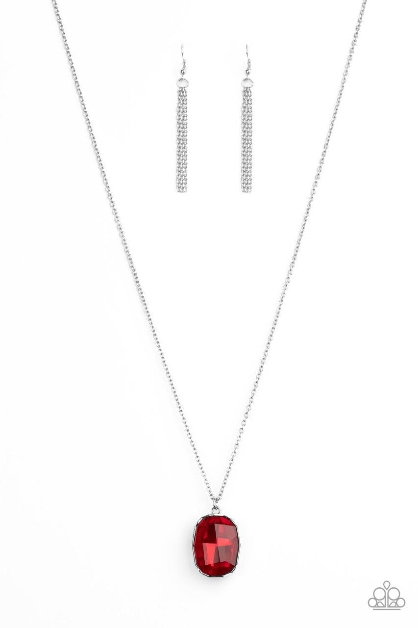 Paparazzi Necklace ~ Imperfect Iridescence - Red