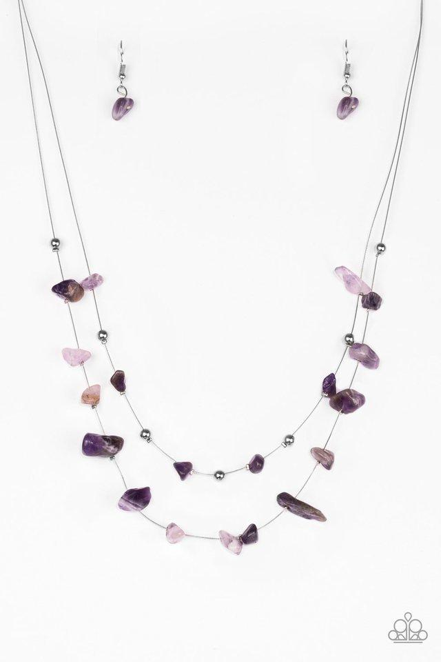 Paparazzi Necklace - Pebble Posh - Purple