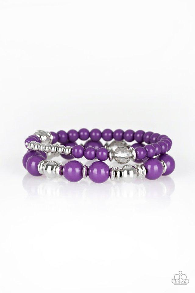 Paparazzi Accessories ~ Colorful Collisions - Purple