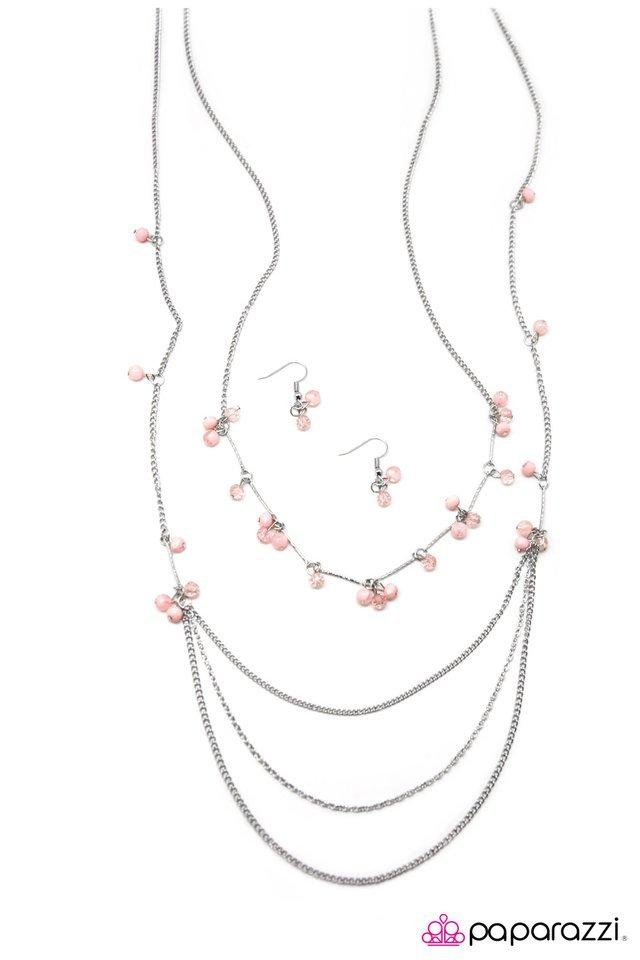 Paparazzi Necklace - Air of Sophistication - Pink