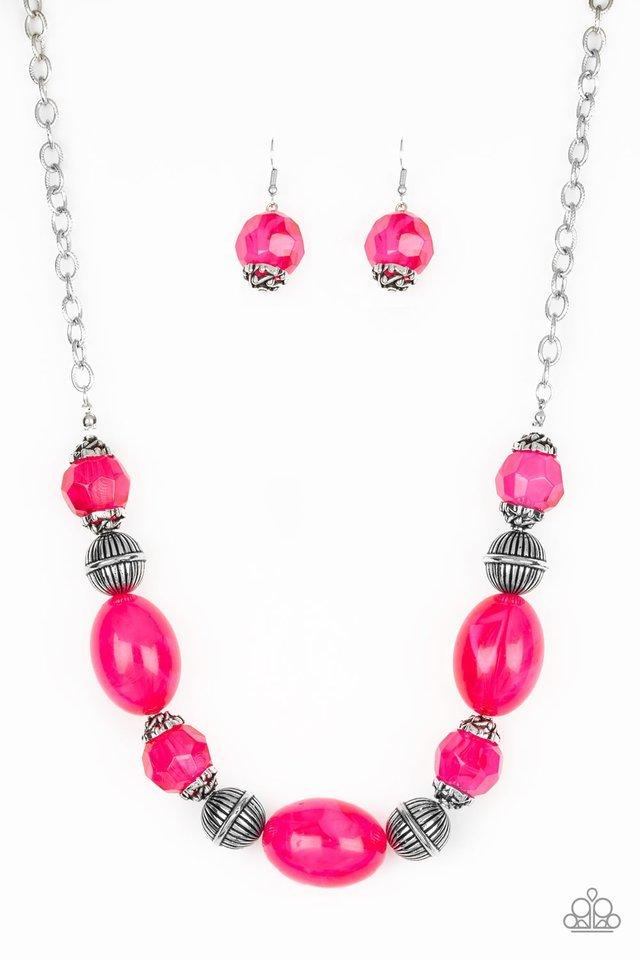 Paparazzi Necklace ~ Ice Melt - Pink
