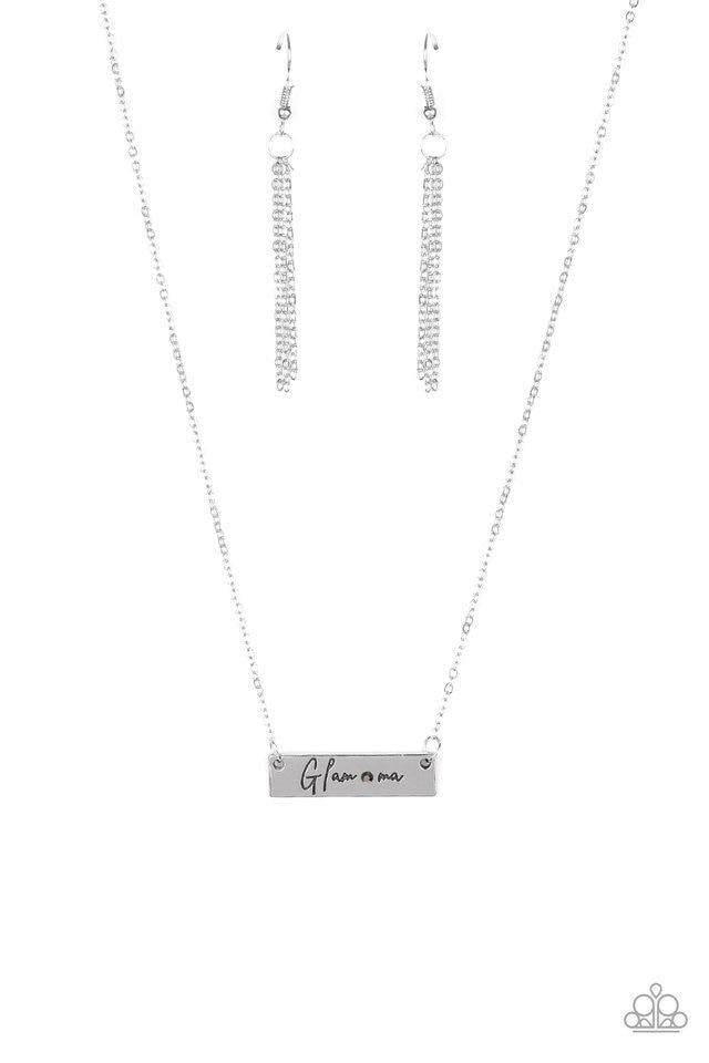 Paparazzi Necklace ~ The GLAM-ma - Silver