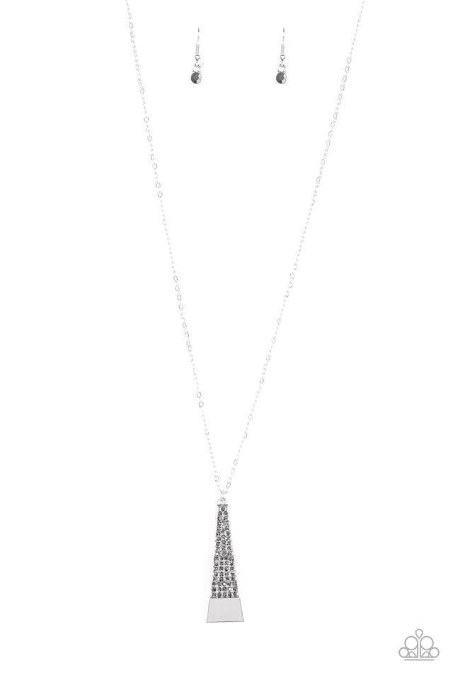 Paparazzi Necklace ~ Prized Pendulum - Silver