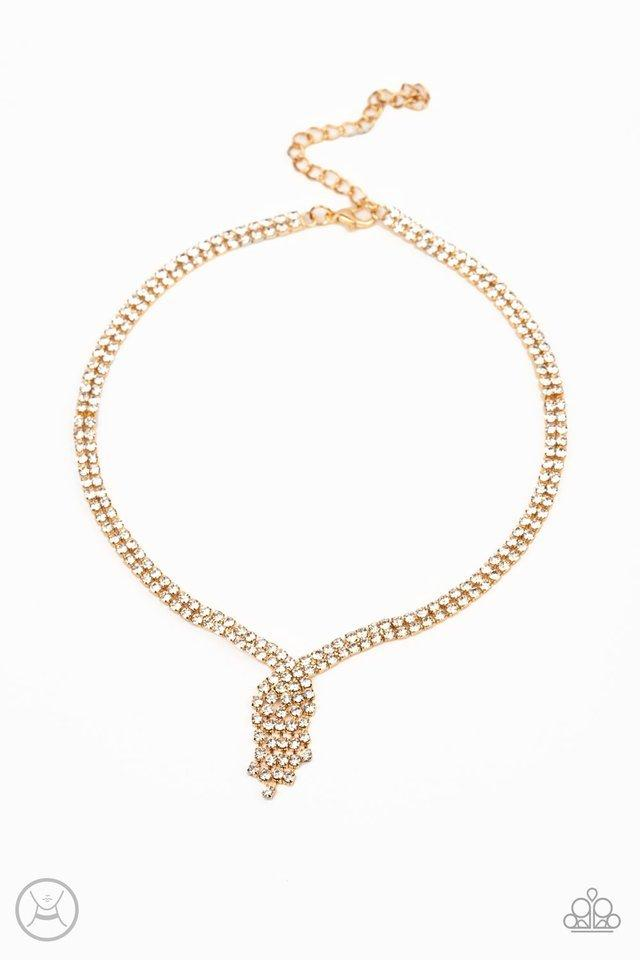 Paparazzi Necklace ~ Ante Up - Gold