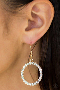 Paparazzi Earrings - Bubblicious - Gold