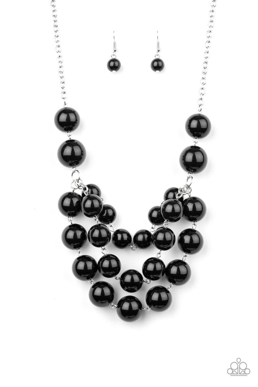 Paparazzi Necklace ~ Miss Pop-YOU-larity - Black