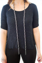 Load image into Gallery viewer, Paparazzi Necklace Blockbuster - SCARFed for Attention - Gunmetal