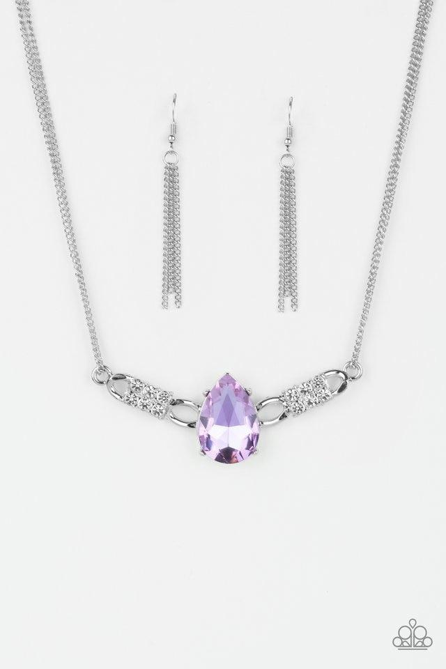 Paparazzi Necklace ~ Way To Make An Entrance - Purple