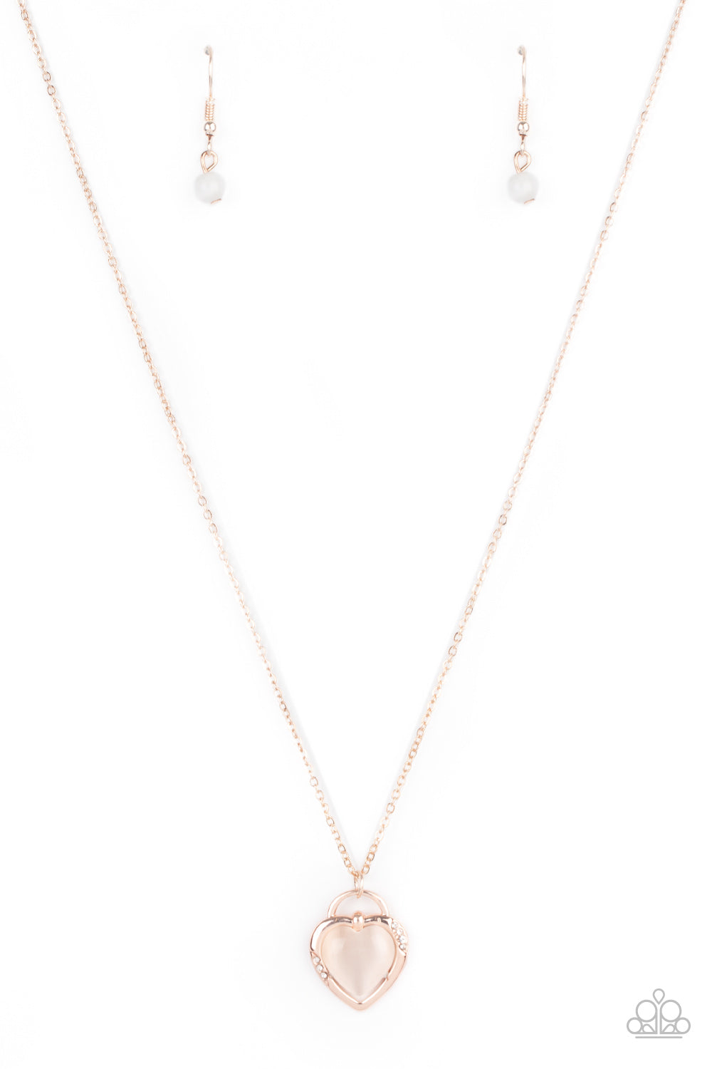 Paparazzi Necklace PREORDER ~ A Dream is a Wish Your Heart Makes - Rose Gold