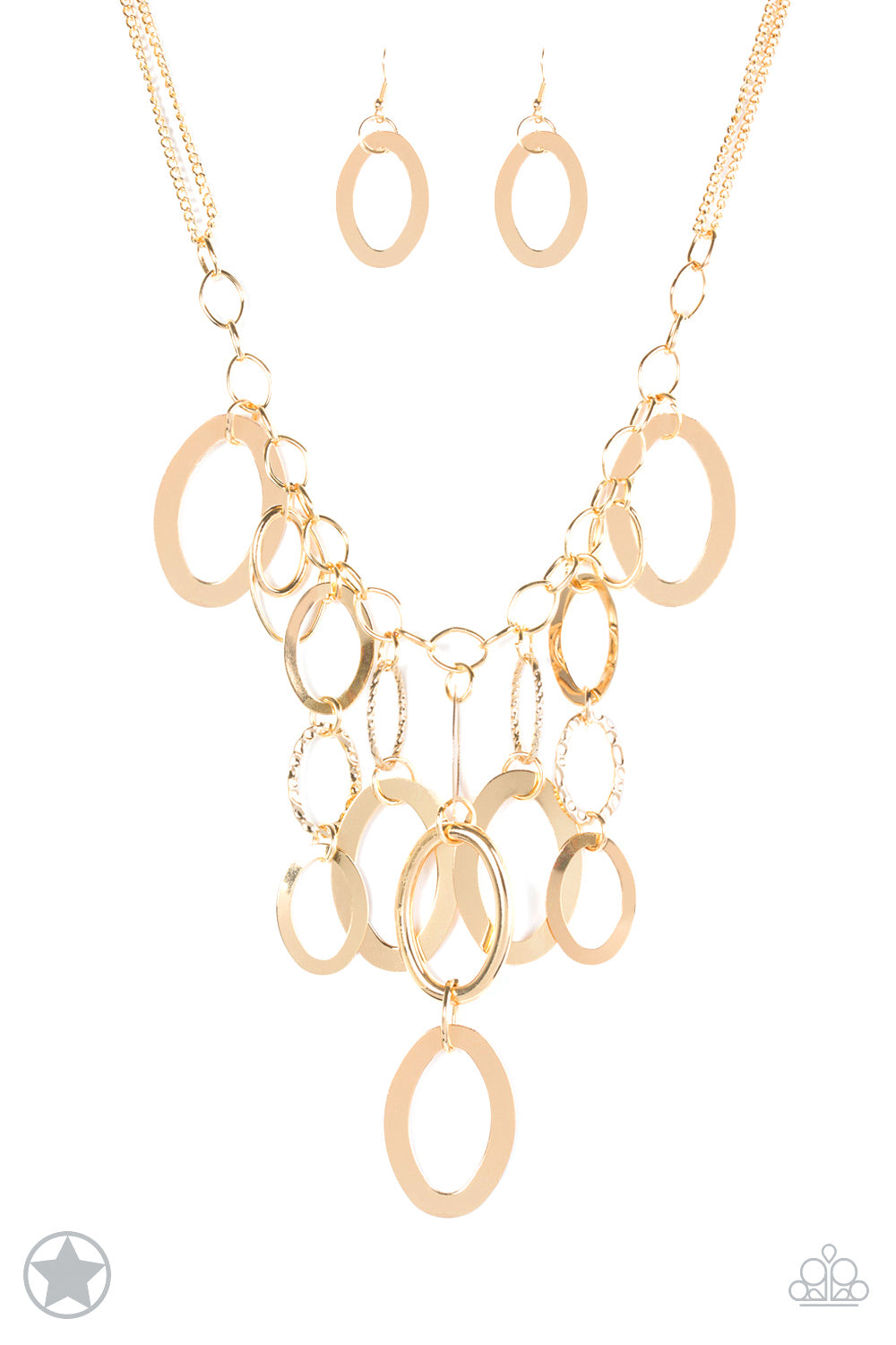 Paparazzi Necklace Blockbuster - Golden Spell - Gold