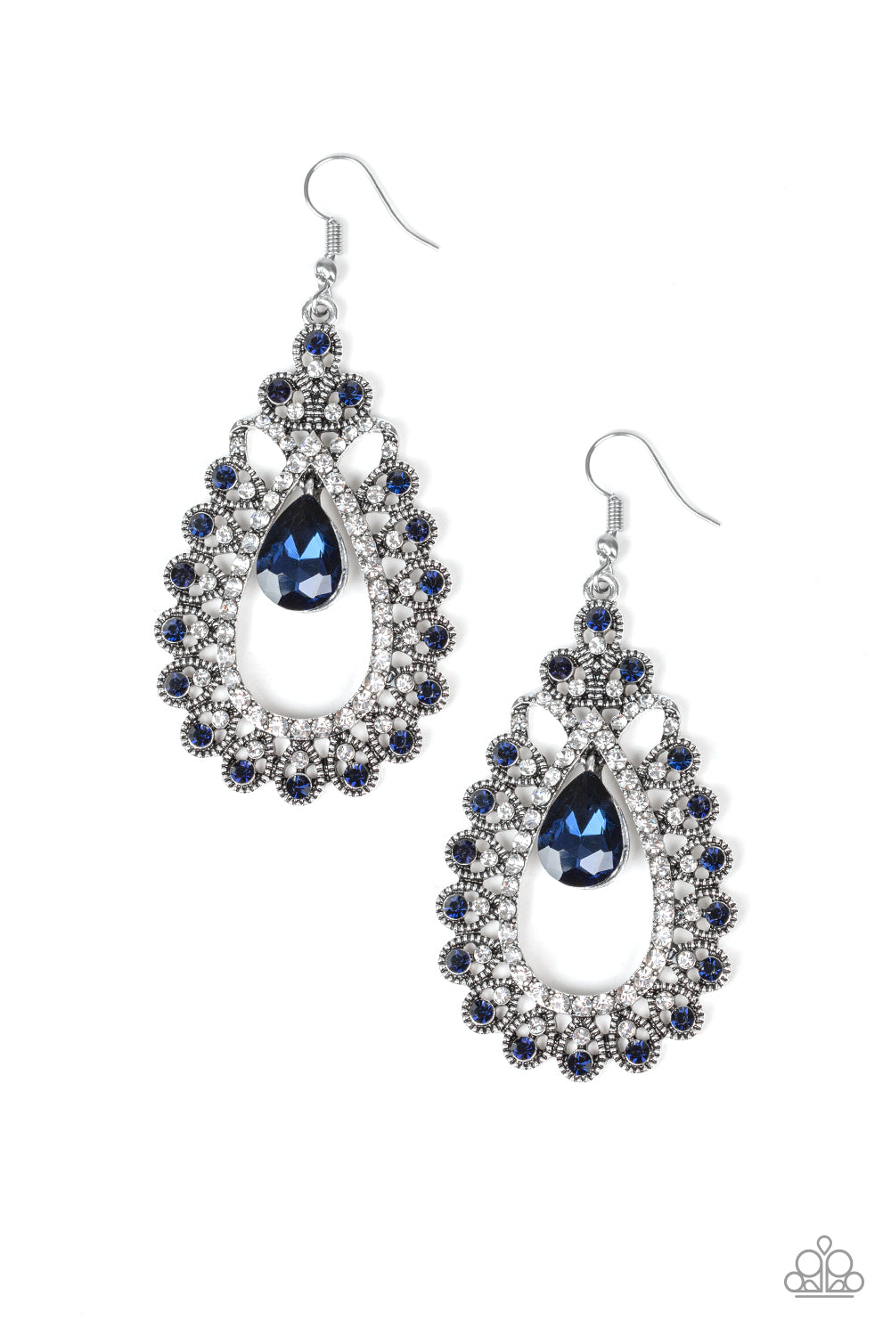 Paparazzi Earring ~ All About Business - Blue