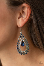 Load image into Gallery viewer, Paparazzi Earring ~ All About Business - Blue
