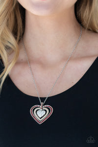Paparazzi Necklace ~ Bless Your Heart - Red