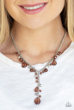 Load image into Gallery viewer, Paparazzi Necklace ~ Crystal Couture - Brown