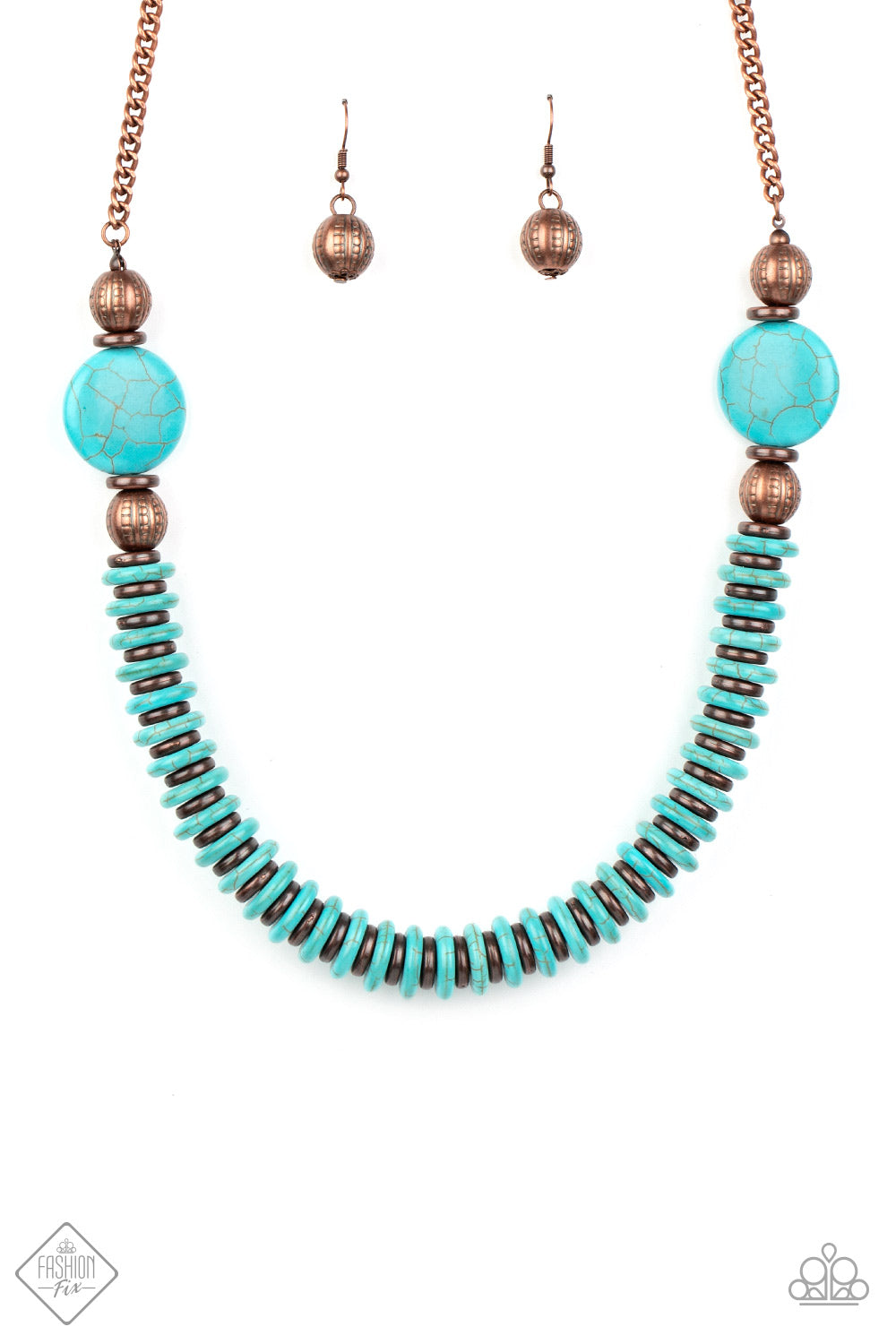Paparazzi Necklace ~ Desert Revival - Fashion Fix Nov 2020 - Copper