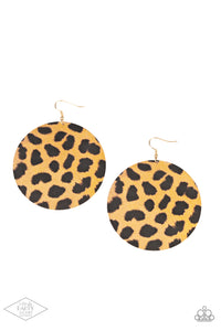 Paparazzi Earring ~ Doing GRR-eat - Brown