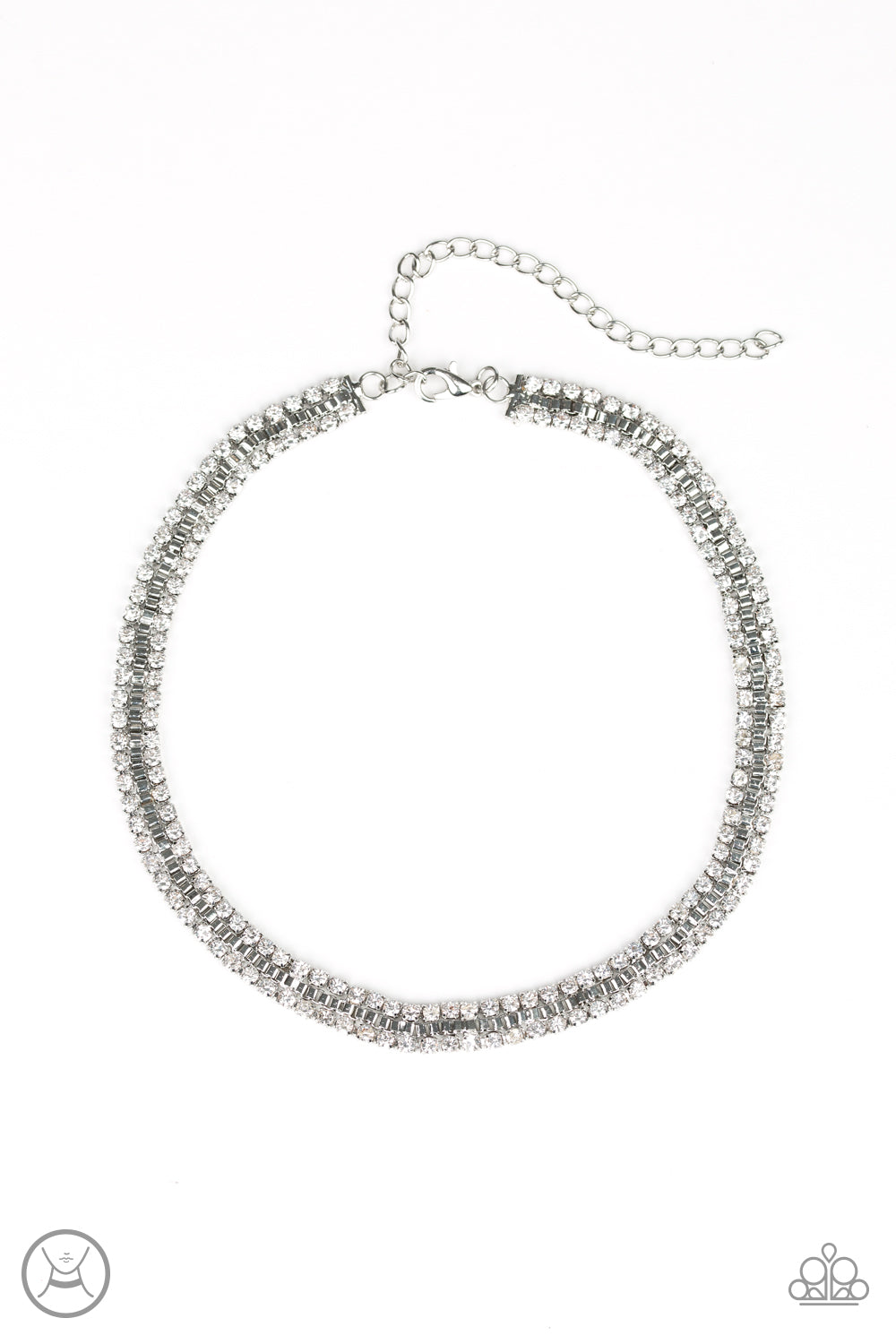 Paparazzi Necklace ~ Full Of Hot HEIR - White