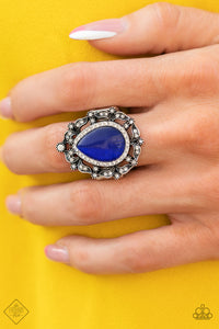 Paparazzi Ring ~ Iridescently Icy - Fashion Fix Nov 2020 - Blue