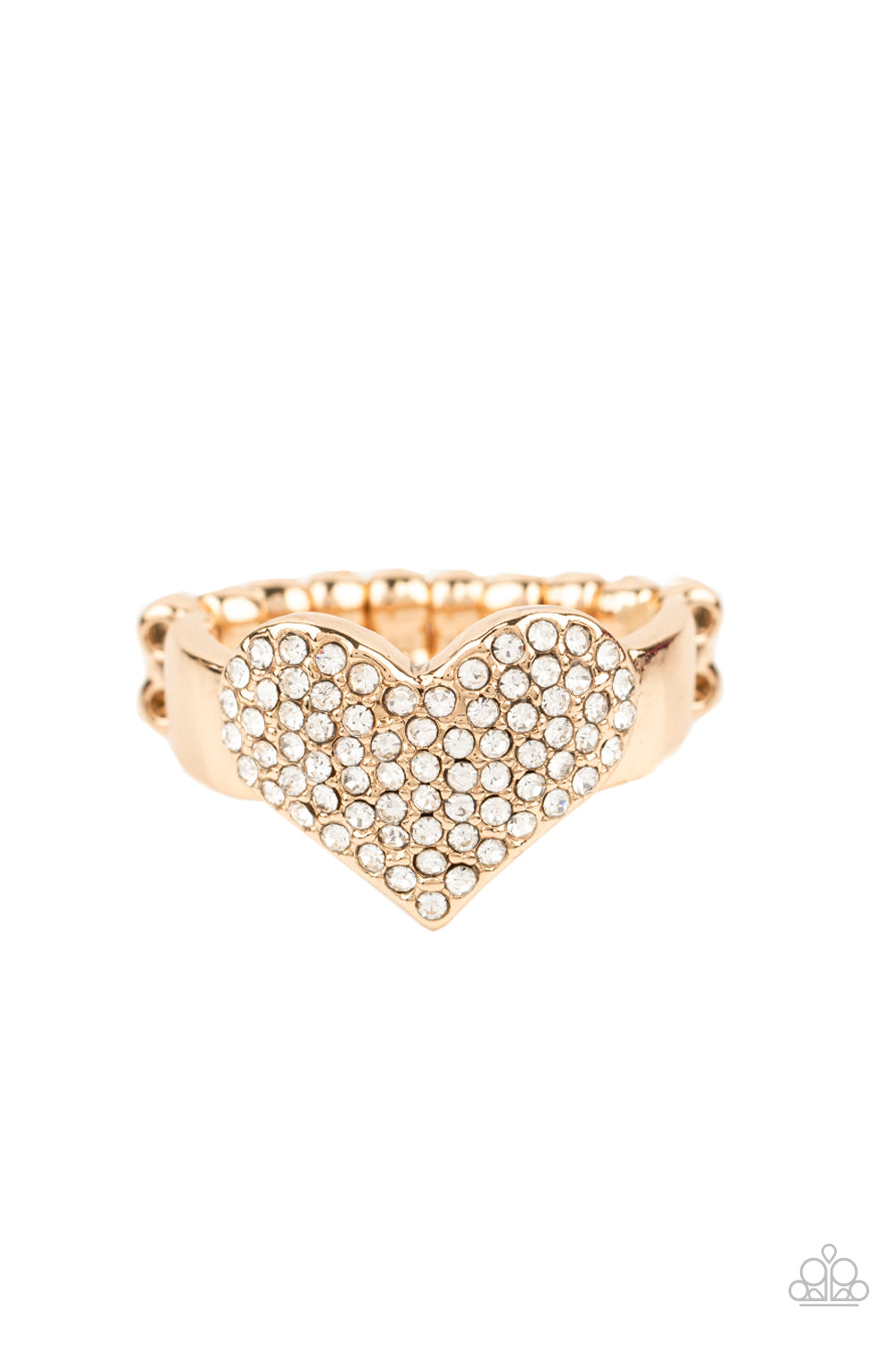 Paparazzi Ring ~ Heart of BLING - Gold